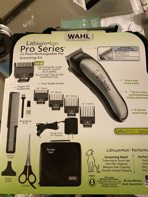 Photo Wahl pet clippers rechargeable