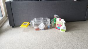 Complete hamster or mouse habitat with lots of accessories for Sale in Alexandria, VA