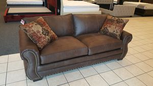 New Brown Nailhead Sofa, used for sale  Bentonville, AR