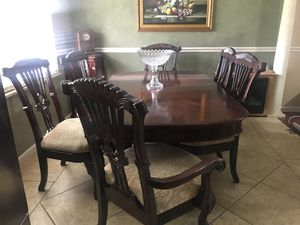 Solid Wooden Dining Table 6 Chairs For Sale In Knoxville TN