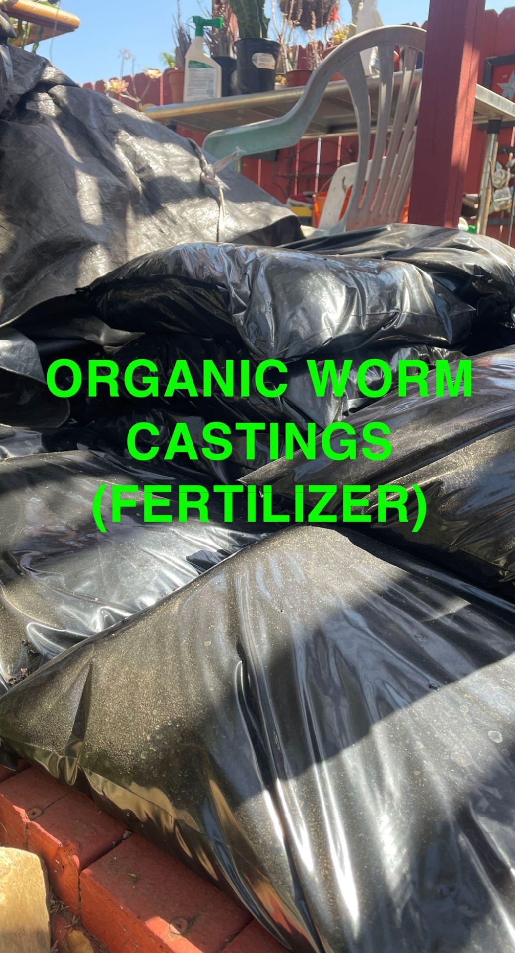 Organic Worm Castings (Plant Fertilizer and Pesticide)