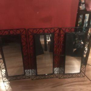 3 unique Glass mirrors with black frame for Sale in Atlanta, GA