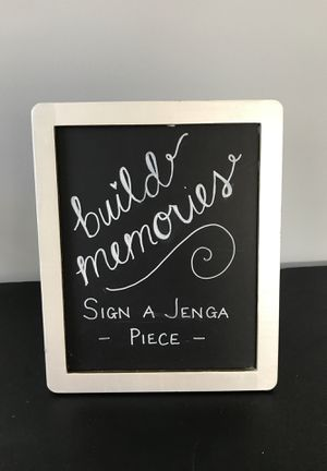 Jenga wedding guest book sign for Sale in Cleveland, OH
