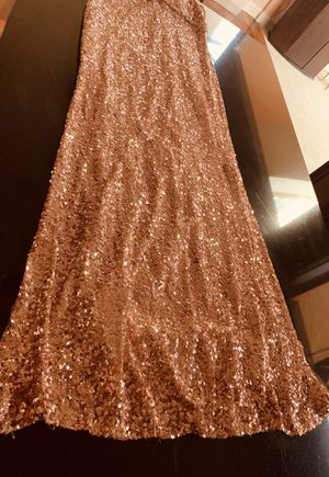 Rose gold evening gown for Sale in Sterling, VA