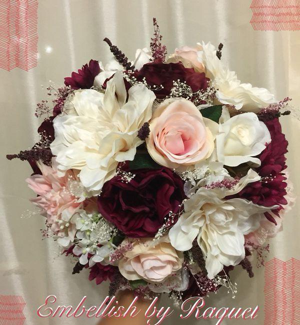 Wedding/Quinceañera Silk Bouquet/Ramo para novia/flowers for Sale in ...
