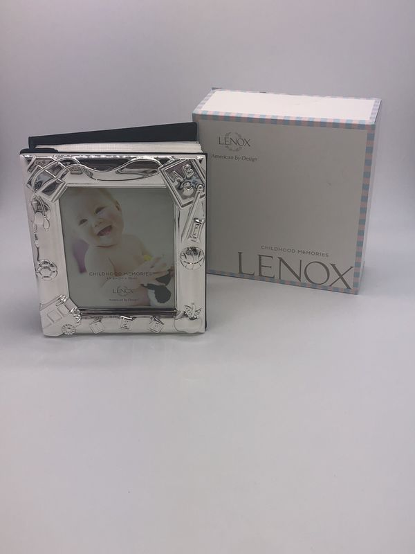 Lenox Silver Plate Metal Photo Album Picture Frame Front Baby Shower