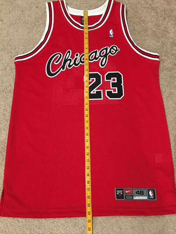 Authentic Michael Jordan Bulls Jersey Sz 48 Banned 1 for Sale in Hayward a980b2f7b