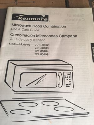 Kenmore Microwave Oven for Sale in Washington, DC