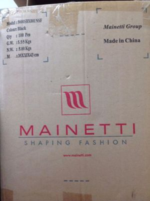 """100 black hangers clothes 17"""" Mainetti Hangers for Sale in Madison Heights, VA"""