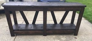 Sofa table / TV console (Handmade to order) for Sale in North Olmsted, OH