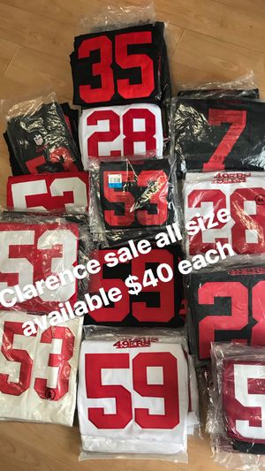 ae0537dc859 New 49ers Clarence jersey all sizes available for Sale in San Francisco