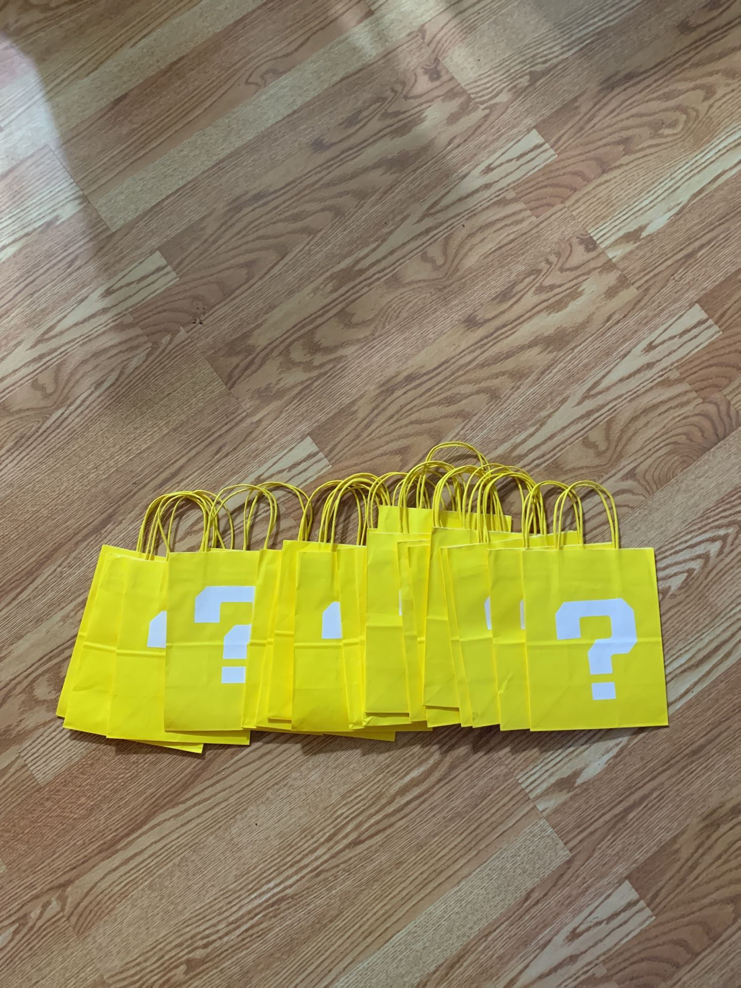 Super Mario Party goodie bags (? Yellow)