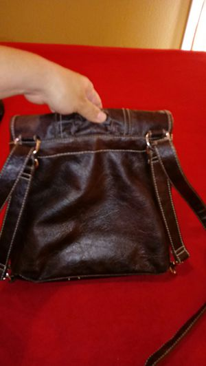 Crossbody/backpack leather purse for Sale in Fresno, CA