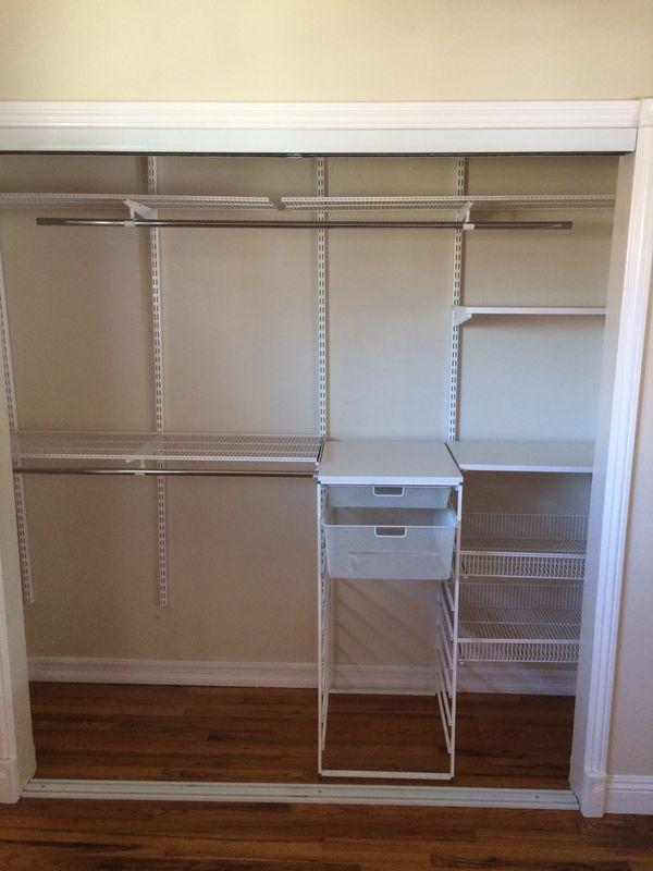 White Wire Closet Organizer