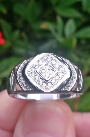 925 Silver Zirconia Unisex Wedding Engagement Ring Size 10 Stamped for Sale in Shelton, WA
