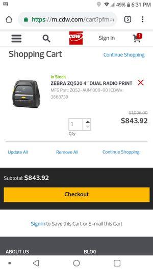 Zebra Printer zq520 for Sale in Norwalk, CA