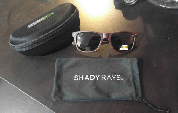7e9a47218e4 SHADY RAYS - CLASSIC (DEEP TIMBER) POLARIZED SUN GLASSES w  CASE - NEW!!!  for Sale in Tempe