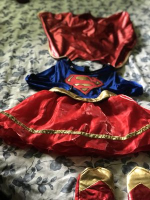Costume Súper Girl Size Todder 3-4 for Sale in Silver Spring, MD