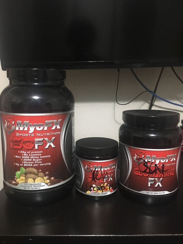 myofx products( protein, pre workout) for sale in downey, ca - offerup