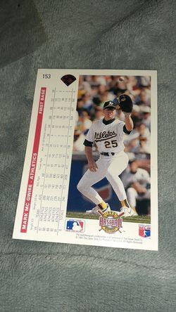 Mark McGwire #153 baseball card Thumbnail