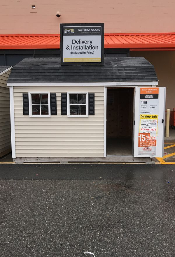 Sheds Usa 10x12 Vinyl Horizon Shed Display Now On Sale At Home Depot