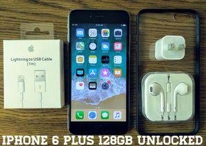 Iphone 6 Plus 128GB UNLOCKED w/ Accessories for Sale in Arlington, VA