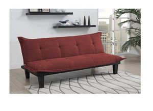 Tufted Red Futon For In Dallas Tx