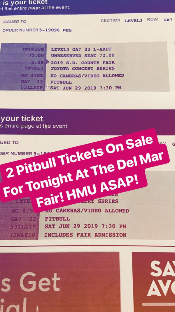 New and Used Tickets for Sale in Fallbrook, CA - OfferUp