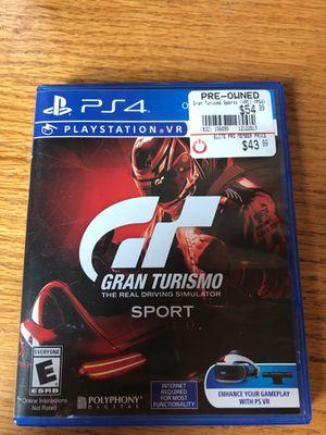 PS4 Grand Turismo Sport for Sale in Chicago, IL