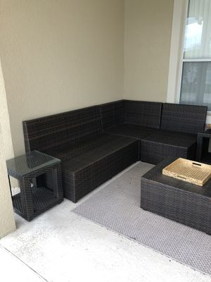 Pier 1 8 Piece Set Sectional Outdoor Furniture Includes 3 Matching Storage Units For In