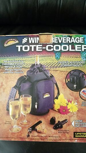 California innovations Wine & Beverage Tote-Cooler brand new in the box accessories included for Sale in Buena Park, CA