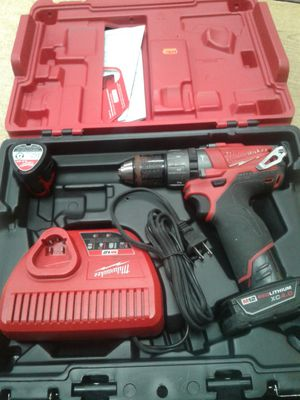 """Milwaukee 2404-22 12 Volt M12 FUEL 1/2"""" Hammer Drill/Driver Kit 2xBatt for Sale in Baltimore, MD"""
