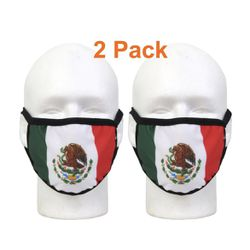 2 Pack Mexican Flag Mask  Thumbnail
