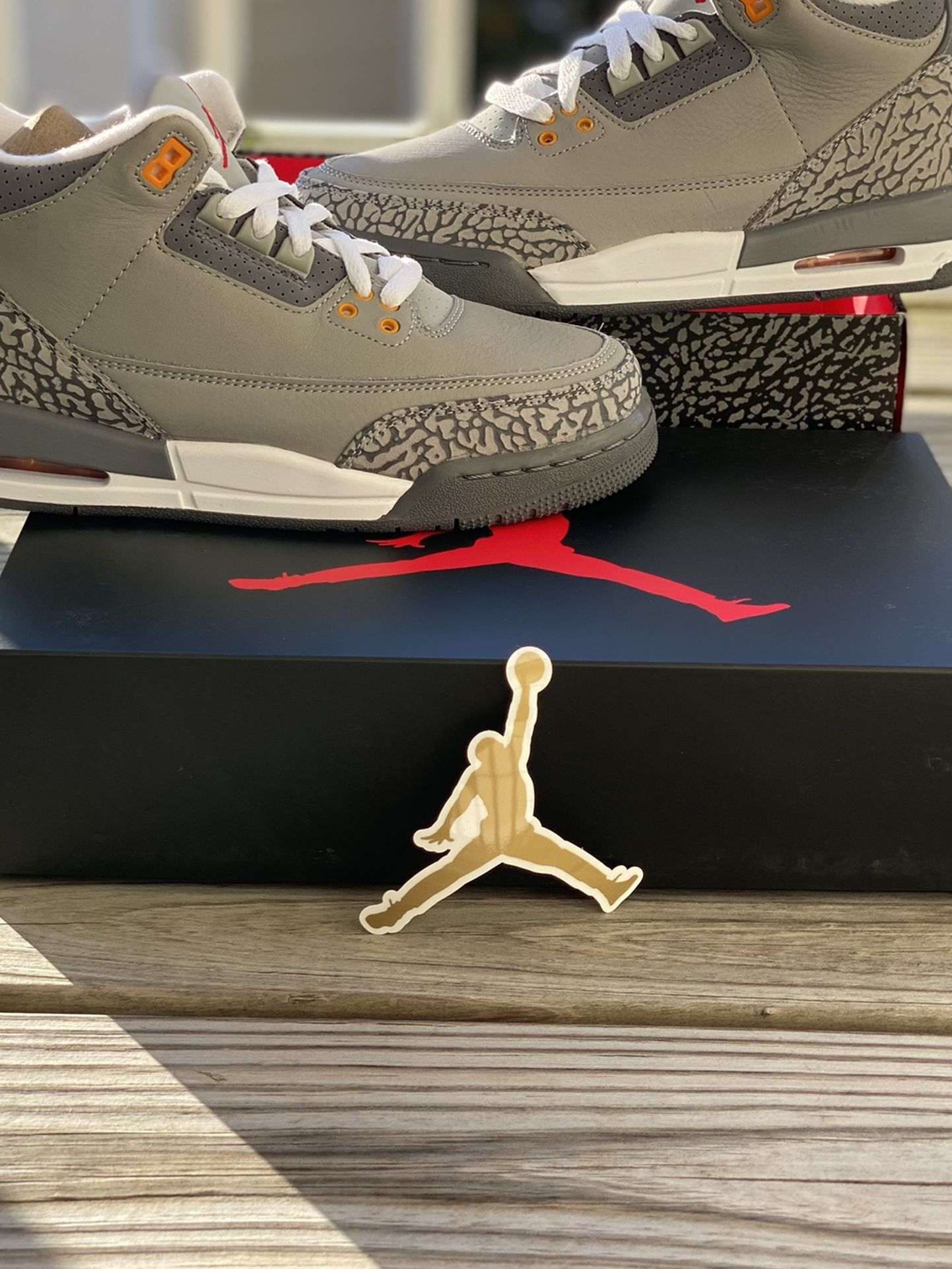 """BRAND NEW AIR JORDAN 3 """"COOL GREY"""" FOR SALE!!! GS SIZE 7 $170"""