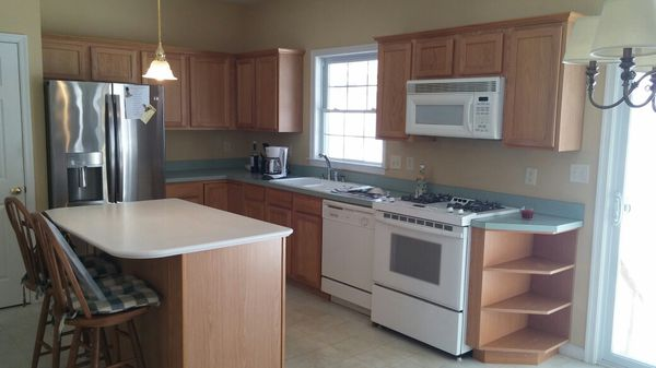 Kitchen cabinets, tops and appliances but not the refrigerator for ...