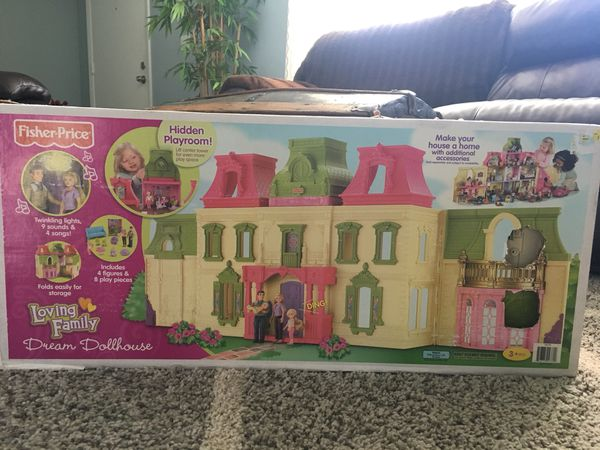 Fisher Price Loving Family Dream Dollhouse With Caucasian Family