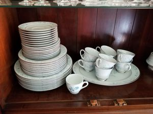 Blue and White Dinnerware Set for 8 for Sale in Fairfax, VA