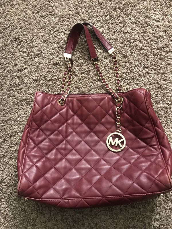 cf4dc7e53ca5 Authentic Michael Kors Burgundy Purse Jewelry Accessories In