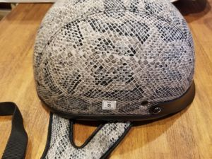Snake Skin Animal Print DOT Motorcycle Shortly Half Helmet Small for Sale in San Diego, CA