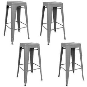 2x Brand New 30 Yellow Metal Bar Stool Barstool Furniture In Brea