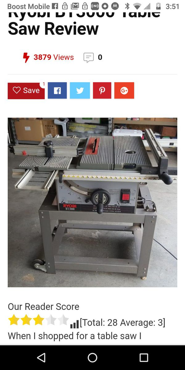 Wondrous New And Used Table Saws For Sale In Greenwood In Offerup Download Free Architecture Designs Rallybritishbridgeorg