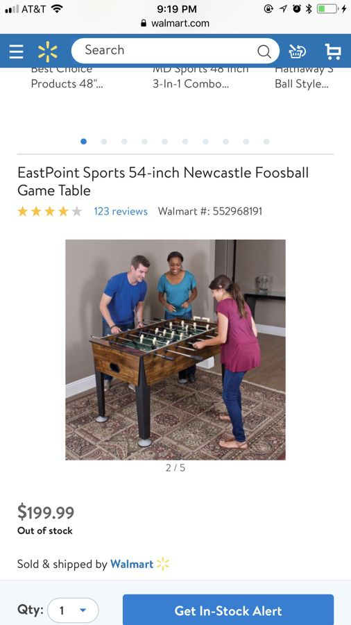 EastPoint Sports Inch Newcastle Foosball Game Table For Sale In - Newcastle foosball table