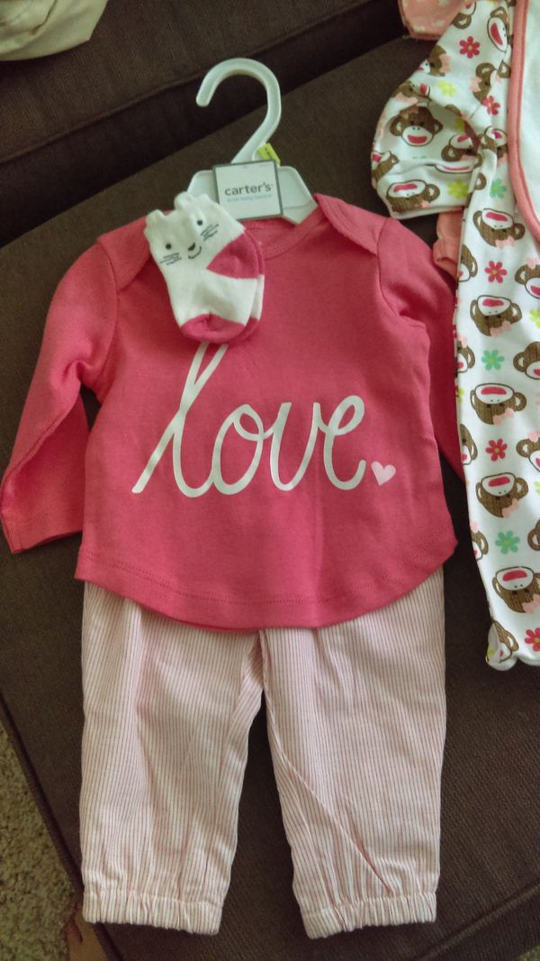 1a6266973 5 Baby girl outfit sets brand new size 3-6 months for Sale in North ...