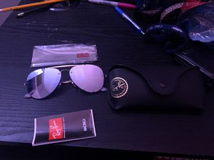 Brand new ray ban sunglasses tags still on case included for Sale in Chantilly, VA