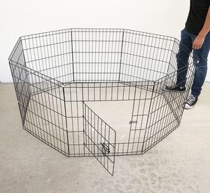 """Photo New $30 Foldable 24"""" Tall x 24"""" Wide x 8-Panel Pet Playpen Dog Crate Metal Fence Exercise Cage"""