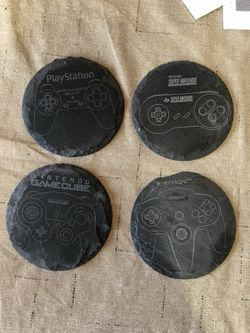 Custom LASER etched slate drink coasters Thumbnail