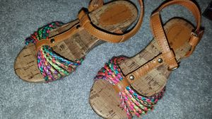 Girls size 12 multicolor sandals for Sale in Manassas, VA