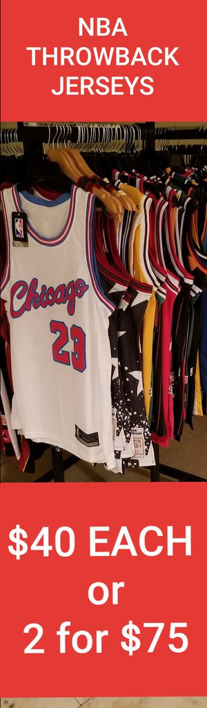 NBA THROWBACK JERSEYS SIZE SMALL-2XL. NEW AND VINTAGE for Sale in Fort  Lauderdale 9325f9aa0