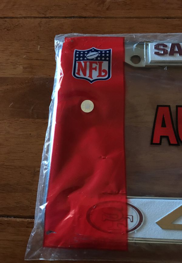 NFL San Francisco 49ers license plate frame/cover (Sports & Outdoors ...