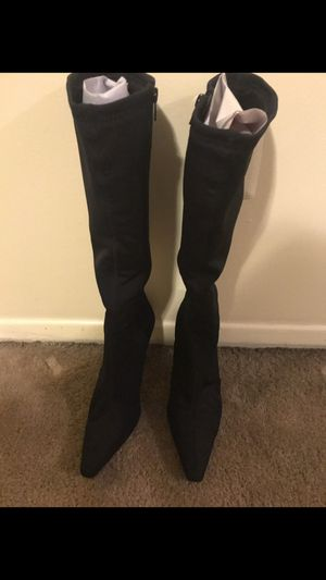New Nine West ladies black boots size 71/2 click on my profile picture on this page to check out my other items message me if you interested pick up for Sale in Gaithersburg, MD
